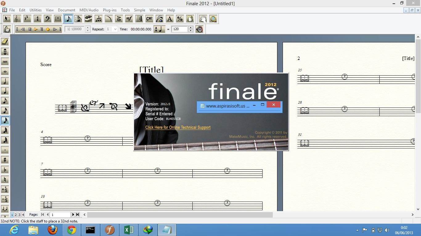 Finale 2012 serial number windows 7