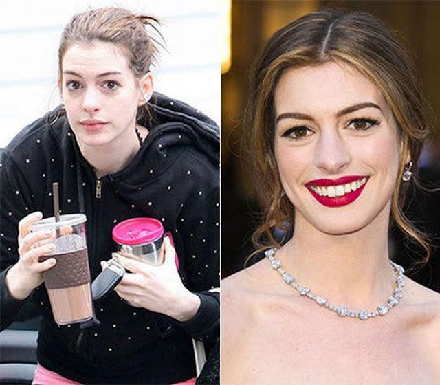 A aparência real das celebridades