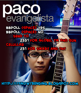 Paco Evangelista for PBB Wildcard