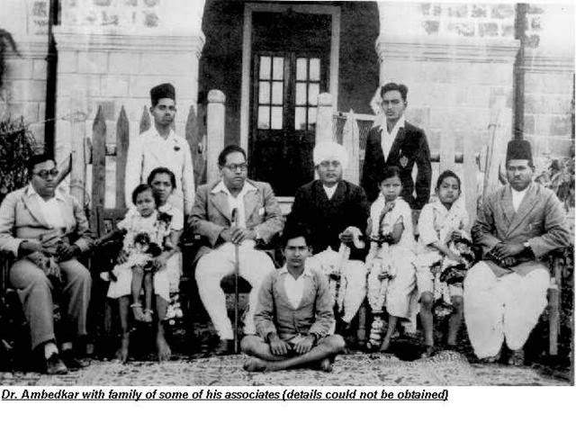 Dr. B.R. Ambedkar with his Family and Some of his Associates