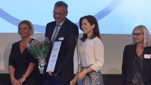 Crown Princess Mary of Denmark attended the award ceremony of the CSR Priser for social responsible entrepreneurship at the Exchange building