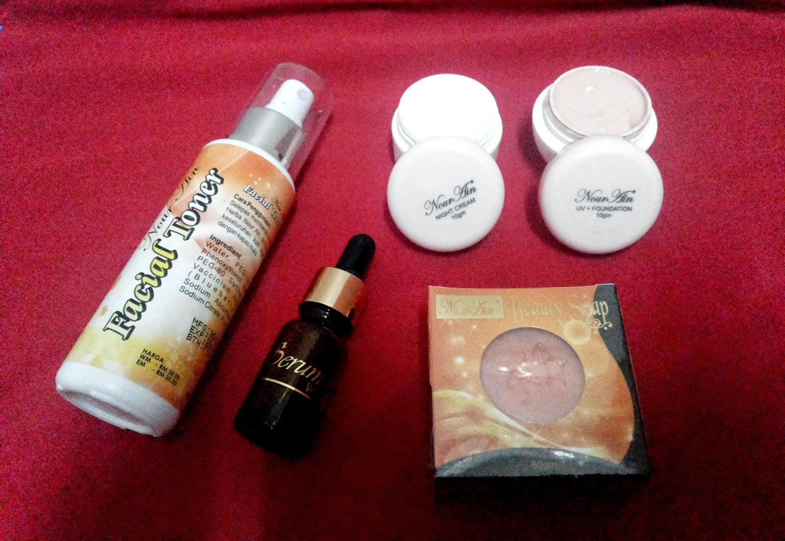 set nourain untuk kulit berjerawat