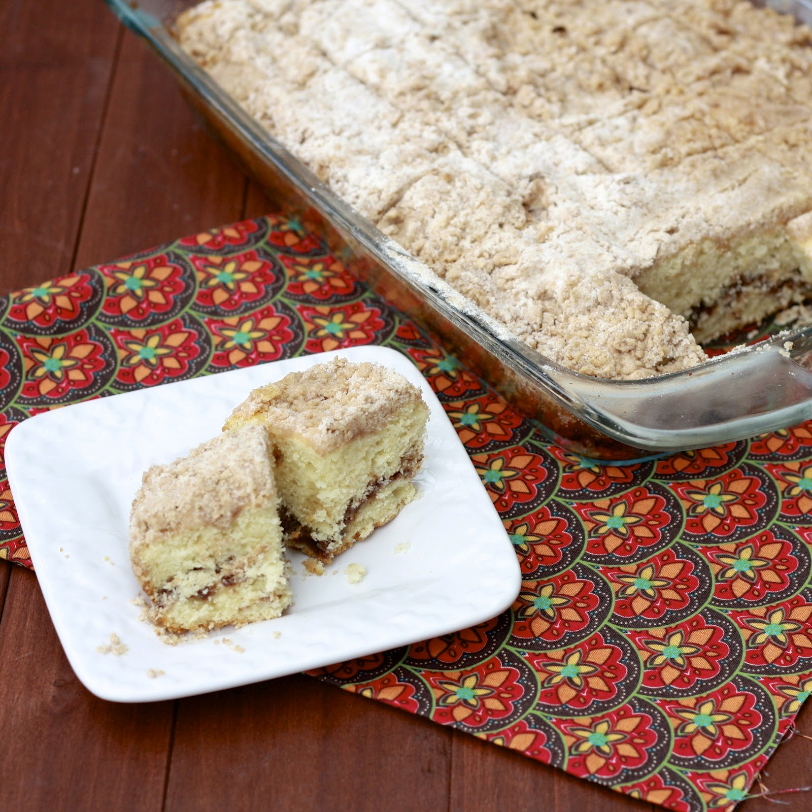 Here's the story about this coffee cake: