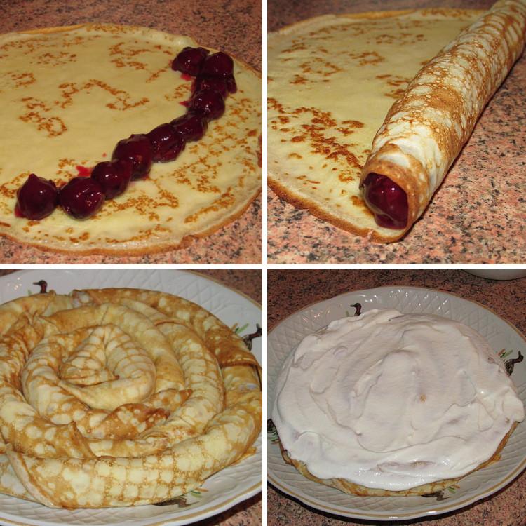 Торт блинный со сметанным кремом с фото