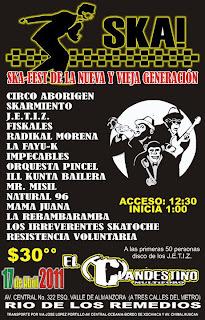 Ska Fest de la Nueva y Vieja Generacion en el Clandestino