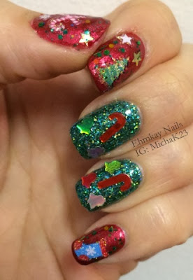 ehmkay nails actual ugly christmas sweater nailsafter
