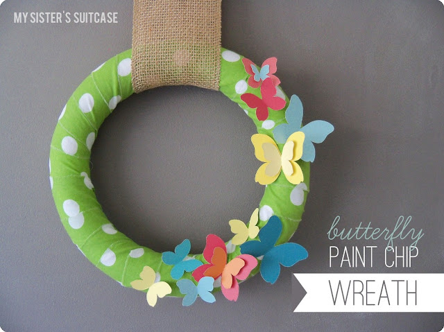 paint+chip+wreath Project Pinterest Top 12 & You Vote!