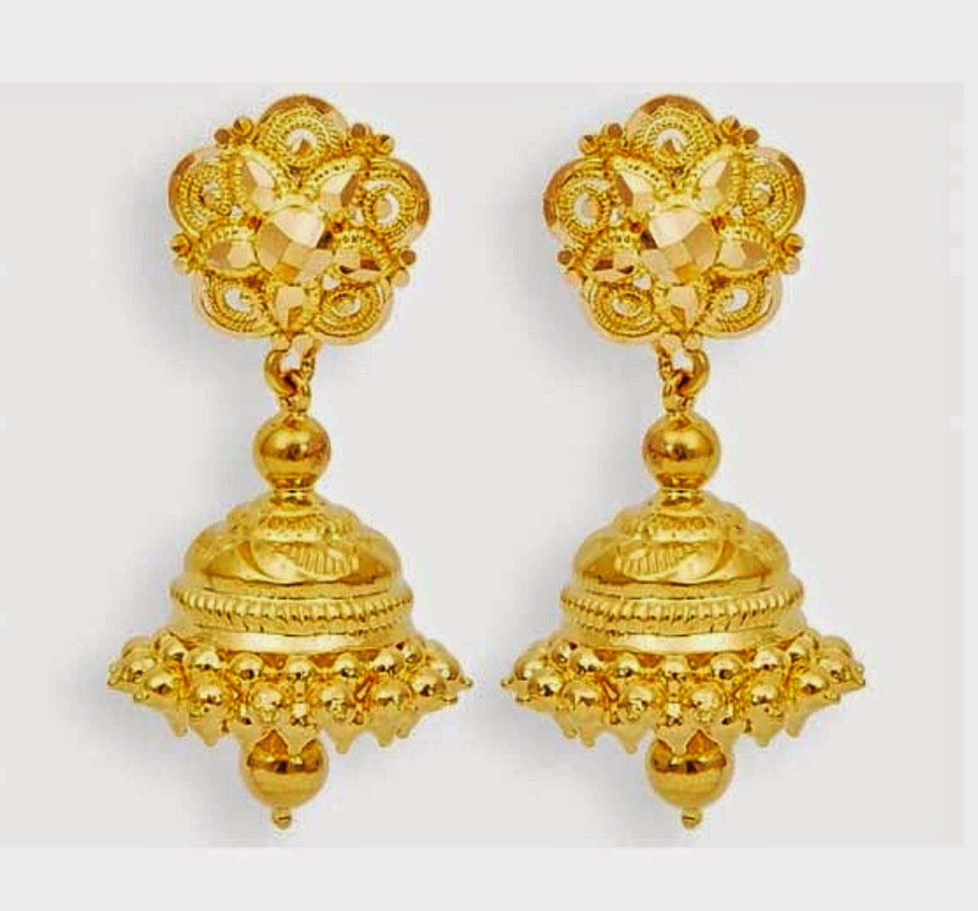 beautiful traditional south indian gold jhumka designs