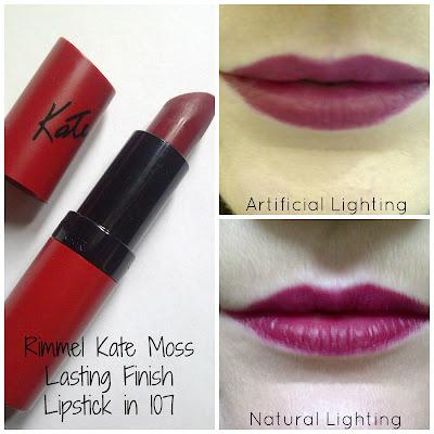 Rimmel Kate Moss Lasting Finish Lipstick in 107