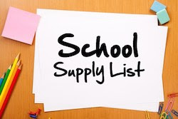 Third Grade School Supply List