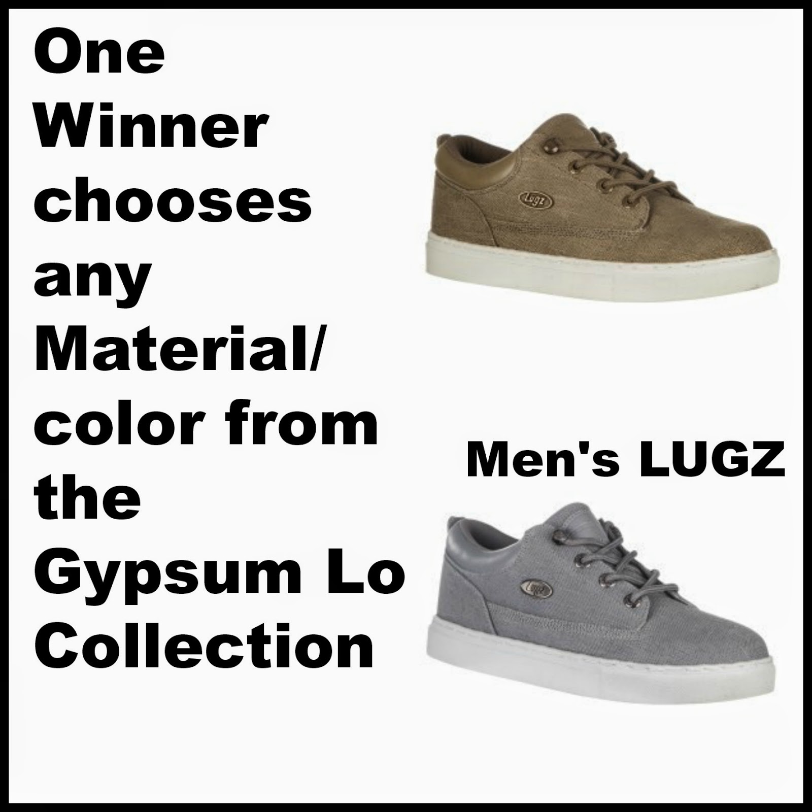 Enter the Trio of Lugz Footwear Giveaway. Ends 8/31.