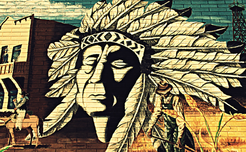 indian mural medicine hat photography alberta