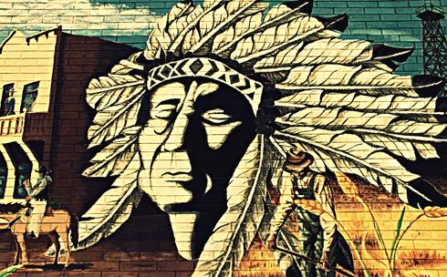 indian mural medicine hat photography alberta