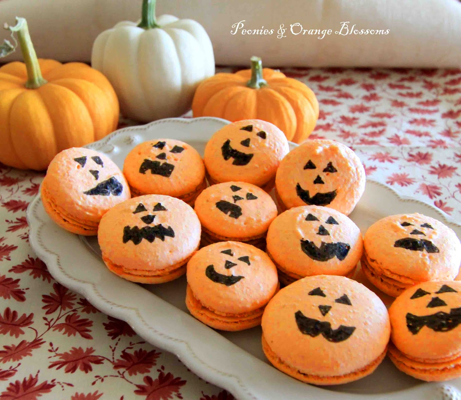 was inspired by the pumpkin macarons in the Williams Sonoma catalog: