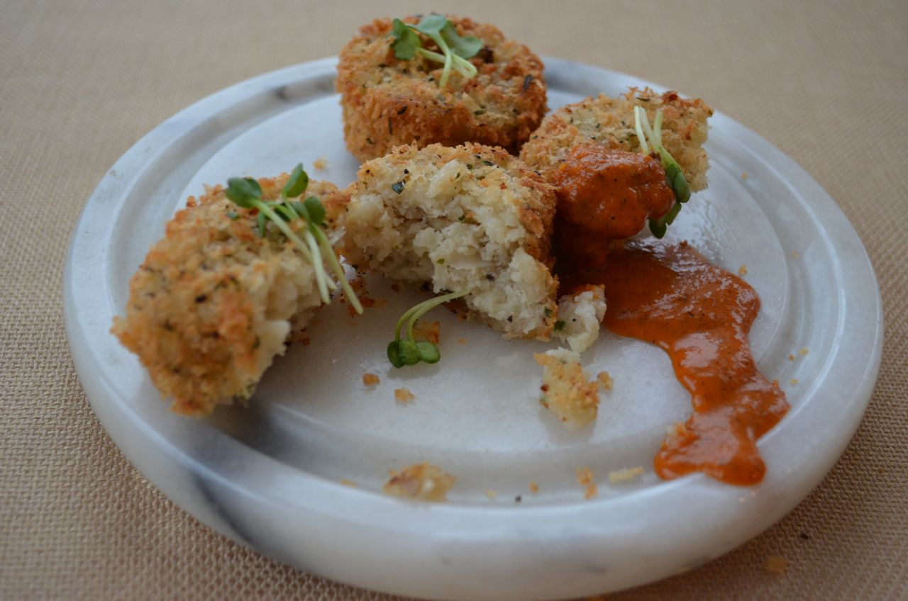 Appetizers: Risotto Cakes