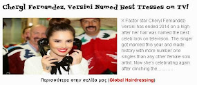 Cheryl Fernandez. Versini Named Best Tresses on TV!