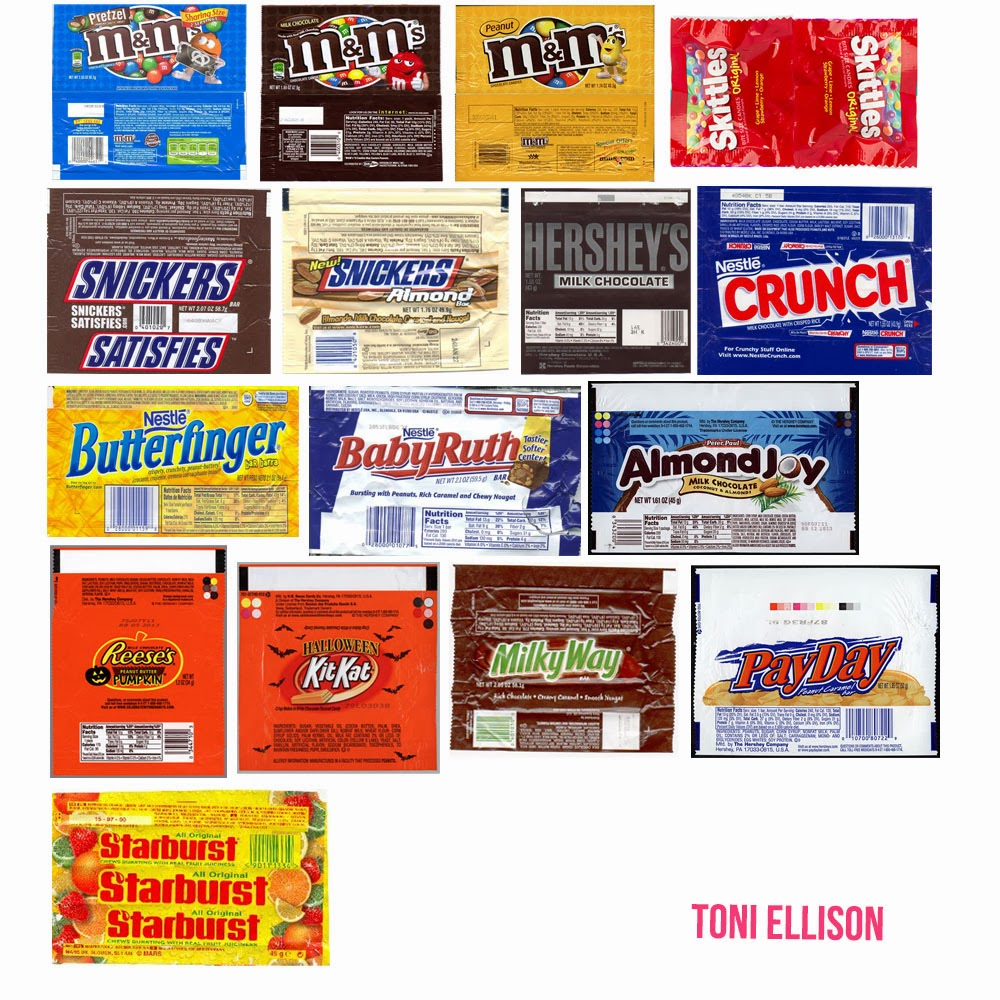 Toni ellison halloween candy wrapper templates for Free mini candy bar wrapper template