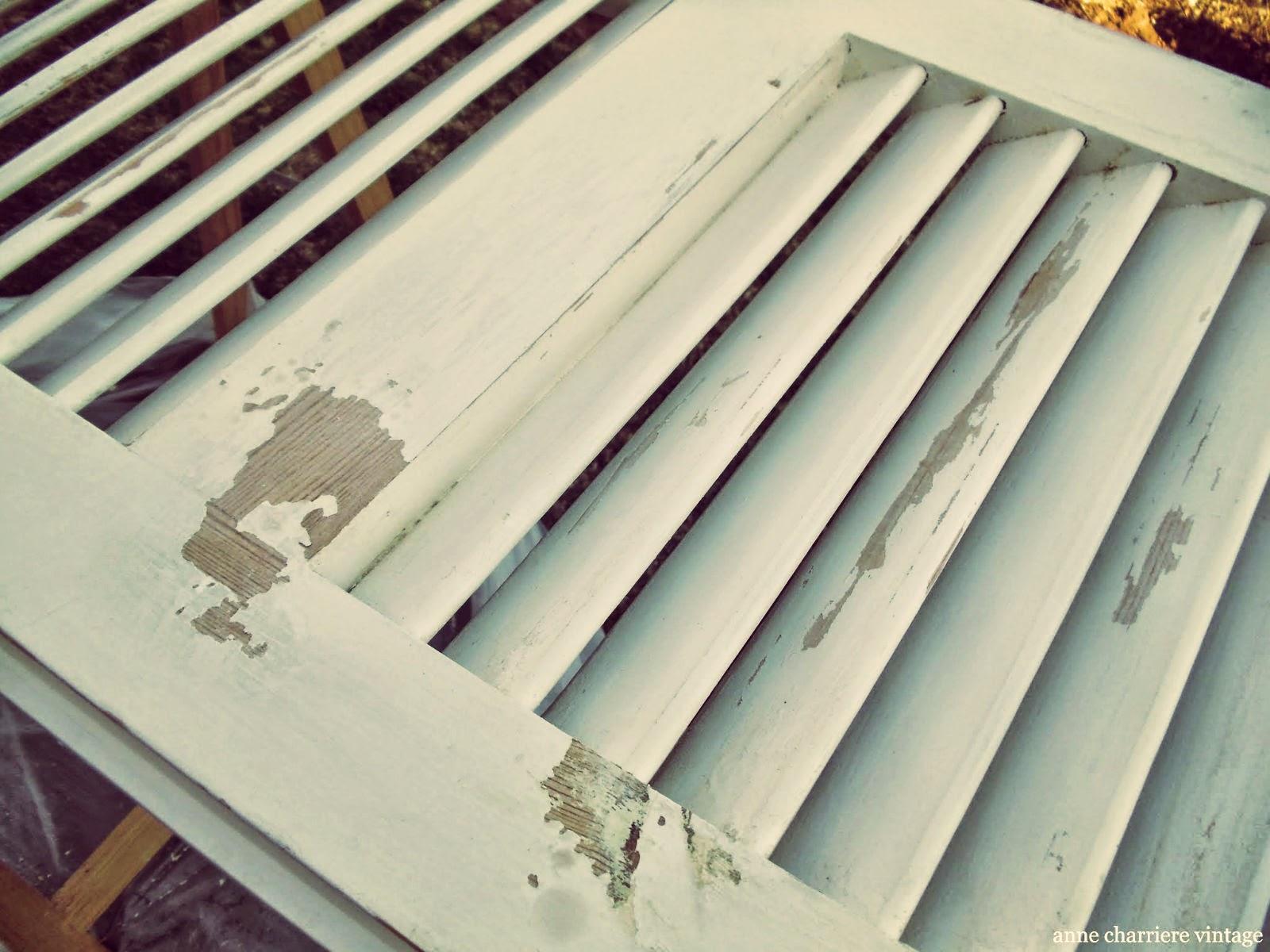 www.annecharriere.com, envejecer madera, reciclar contraventanas,
