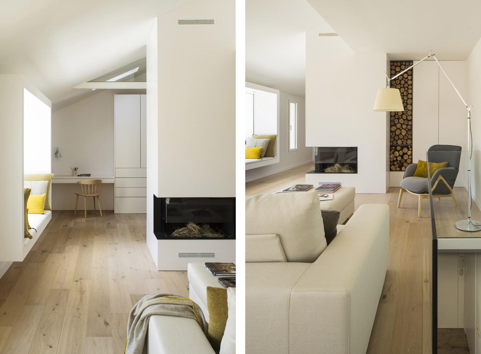 Maison de vacances a barcellona con colori chiari ed arredi naturali by susanna cots arc art - Colori per interno casa ...