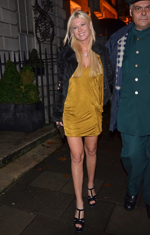 Tara Reid Leaving  Annabel's Club in London