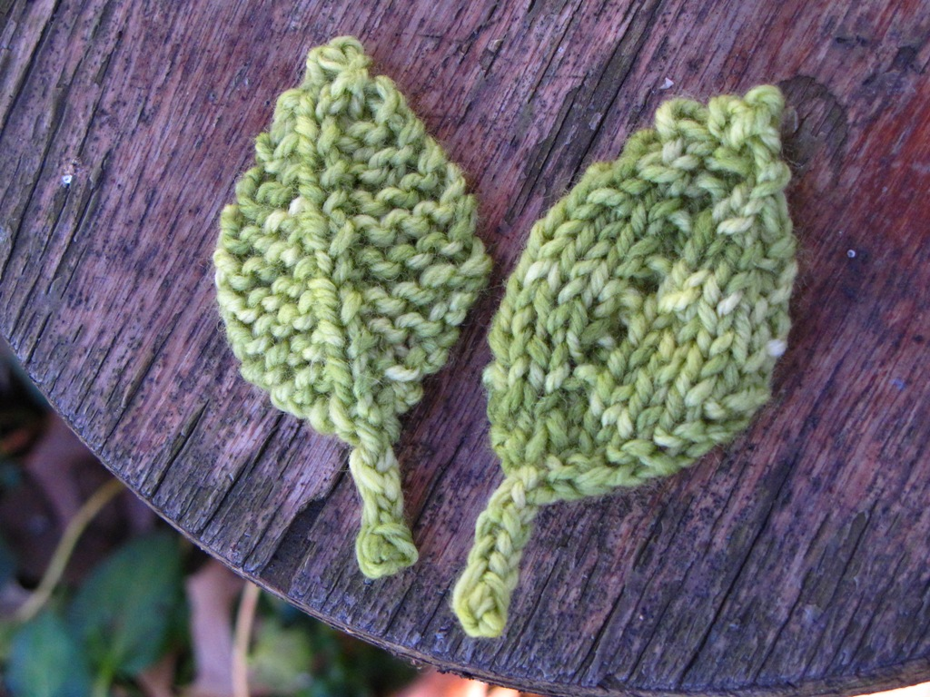 Double Leaf Knitting Pattern : Knitted Leaf Patterns... - Natural Suburbia