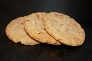 Cherry and almond cookies