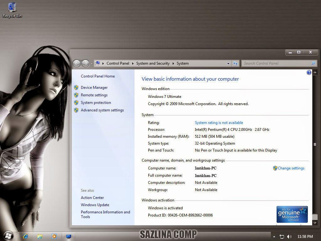 Windows 7 Dark Ultimate Netbook Edition SP1