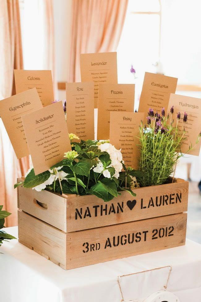 Asignar los asientos en una boda_flores en caja