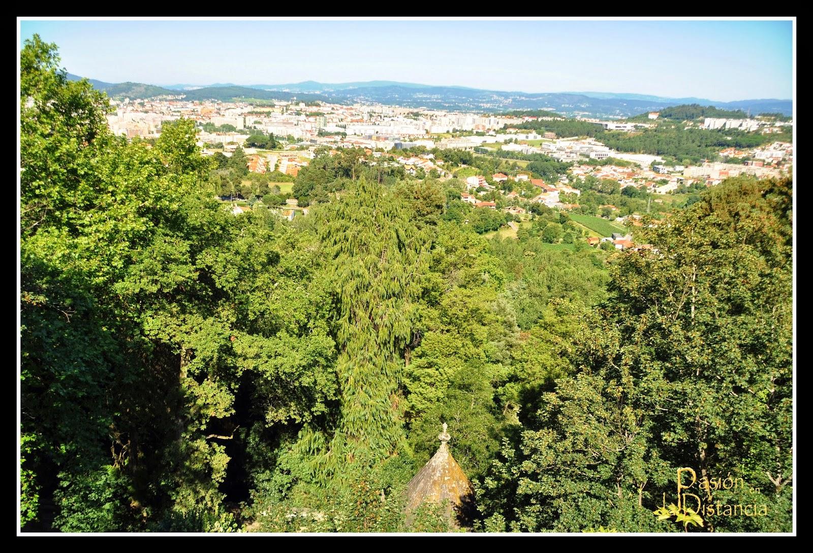 Vistas de la ciudad de Braga desde el Santuario Bom Jesú