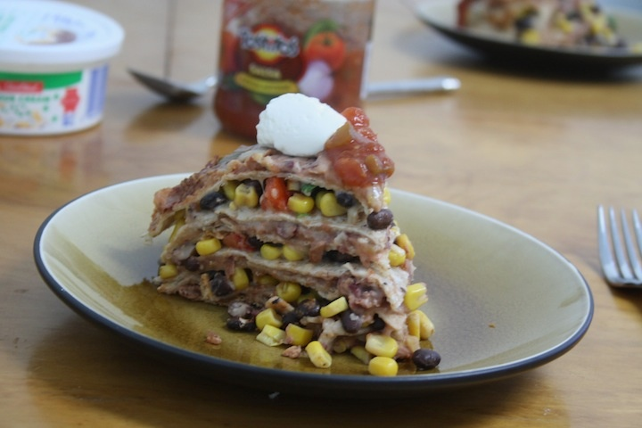 Seven Layer Tortilla Pie Recipe — Dishmaps