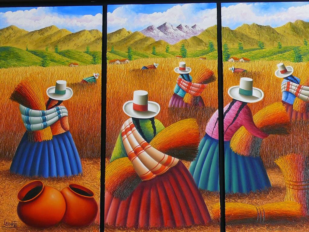 cuadros-con-espatula-peruanas-campesinas