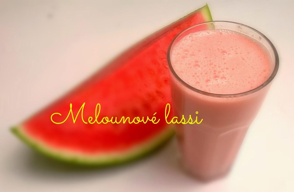 lassi, meloun, nápoj