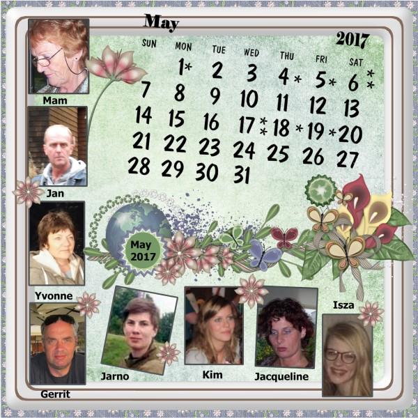 May 2017 - Nelleke's calendar.