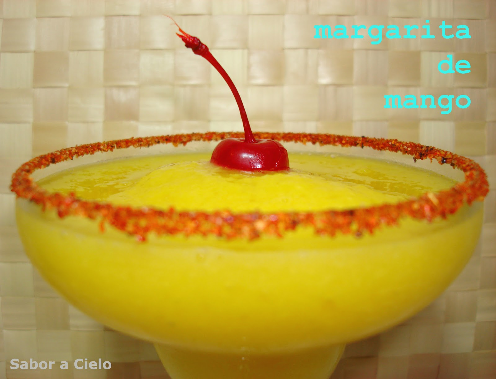 Sabor a cielo margarita de mango for Preparacion de margaritas