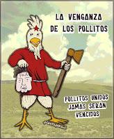 Caricatura de Frafra y pollitos
