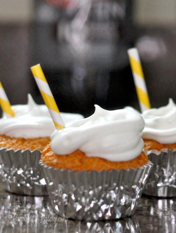 Skinny Root Beer Float Cupcakes - under 100 calories each!
