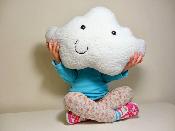 Claire on Cloud 9 cloud pillows on etsy