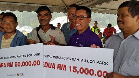 Wajah Pemenang Karnival Memancing Rantau Eco Park