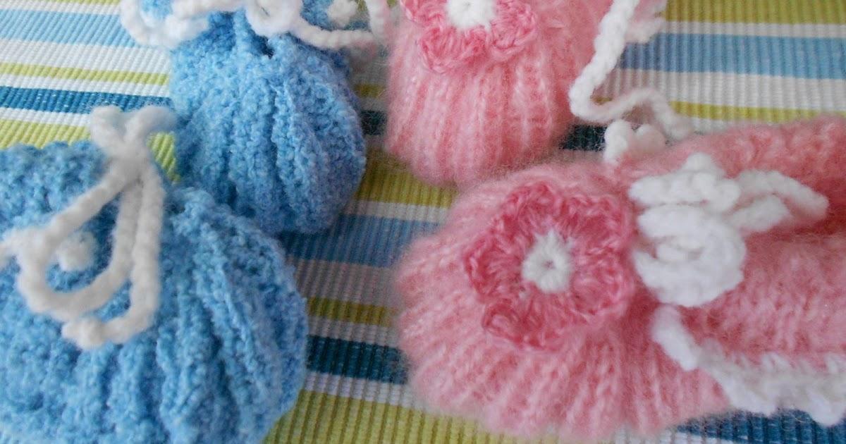 kochloeffel-und-nadelkissen: Baby- Schuhe