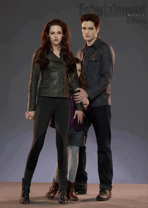 Robert Pattinson, Kristen Stewart and Mackenzie Foy (Breaking dawn Part 2)
