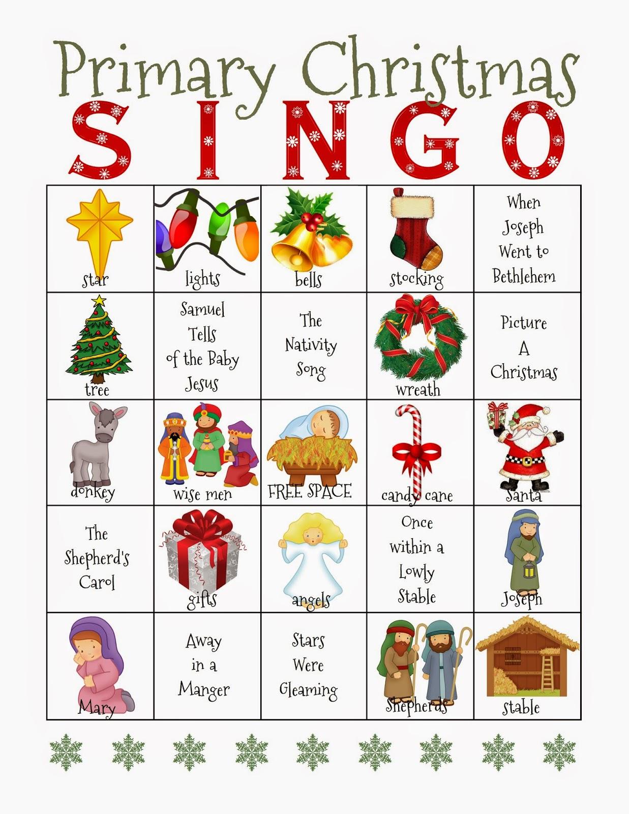 Camille\'s Primary Ideas: Christmas Singo