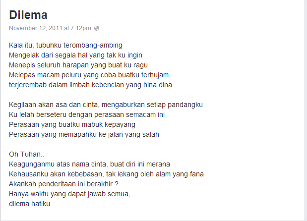 [Puisi] Dilema