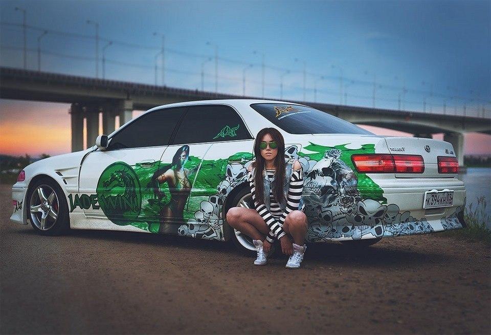 kobieta i auto, japońska motoryzacja, models, car, Toyota Mark II
