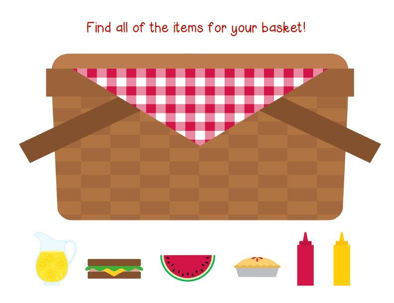 Picnic Basket Graphic : Going on a picnic wh question activity
