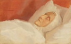 Ane Hedvig Brøndum post mortem, Anna Ancher (1916)