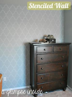 http://www.aglimpseinsideblog.com/2012/08/stenciled-bedroom-wall.html