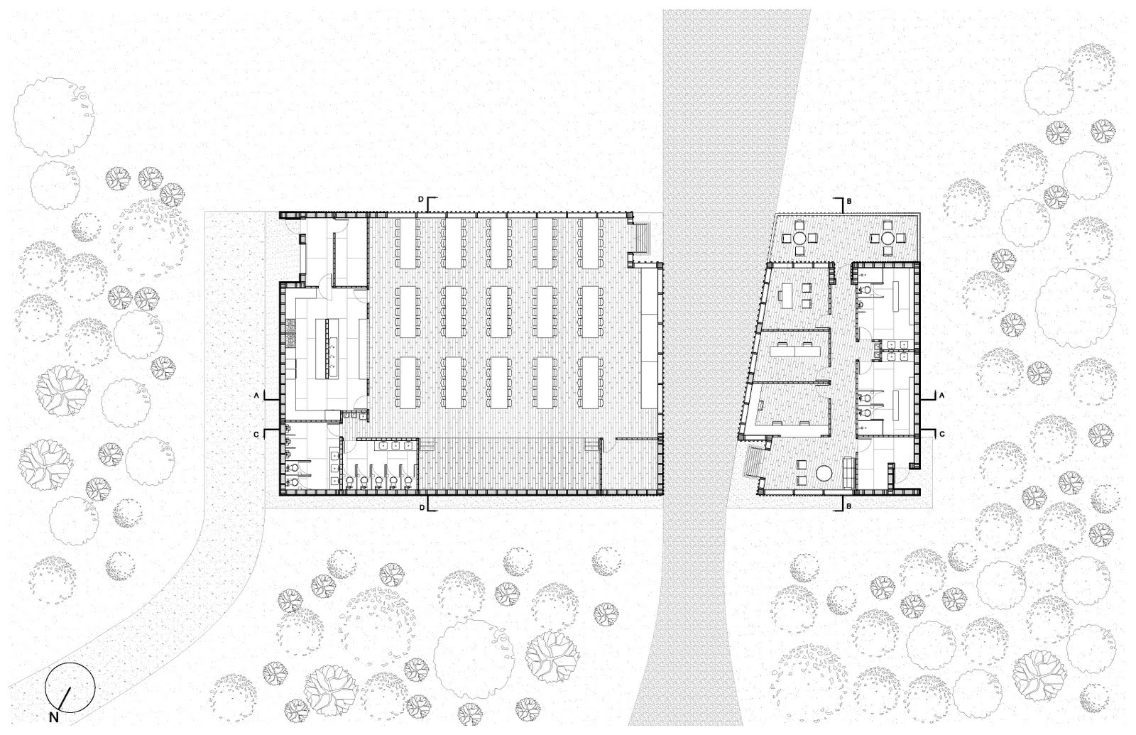 Camp Craft Gathering Pavilion Plans Sections Elevations