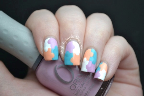 Nails by kayla shevonne youtube nail art week pastel puzzle pieces i decided to go with a light pastel colour palette for my recreation of this design the base is sinful color snow me white and then the other three puzzle prinsesfo Image collections