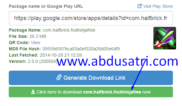 Download APK google play dari PC