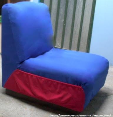 Funda del sofá terminada
